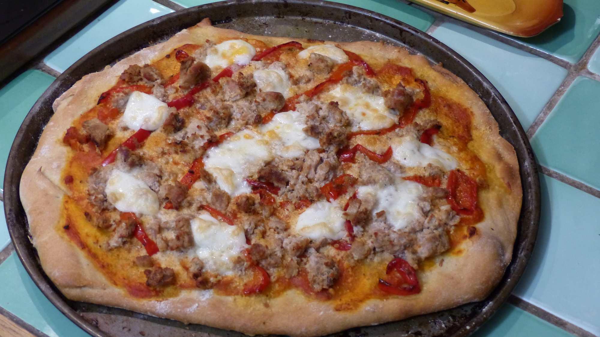 Pizza thon poivron mozzarella