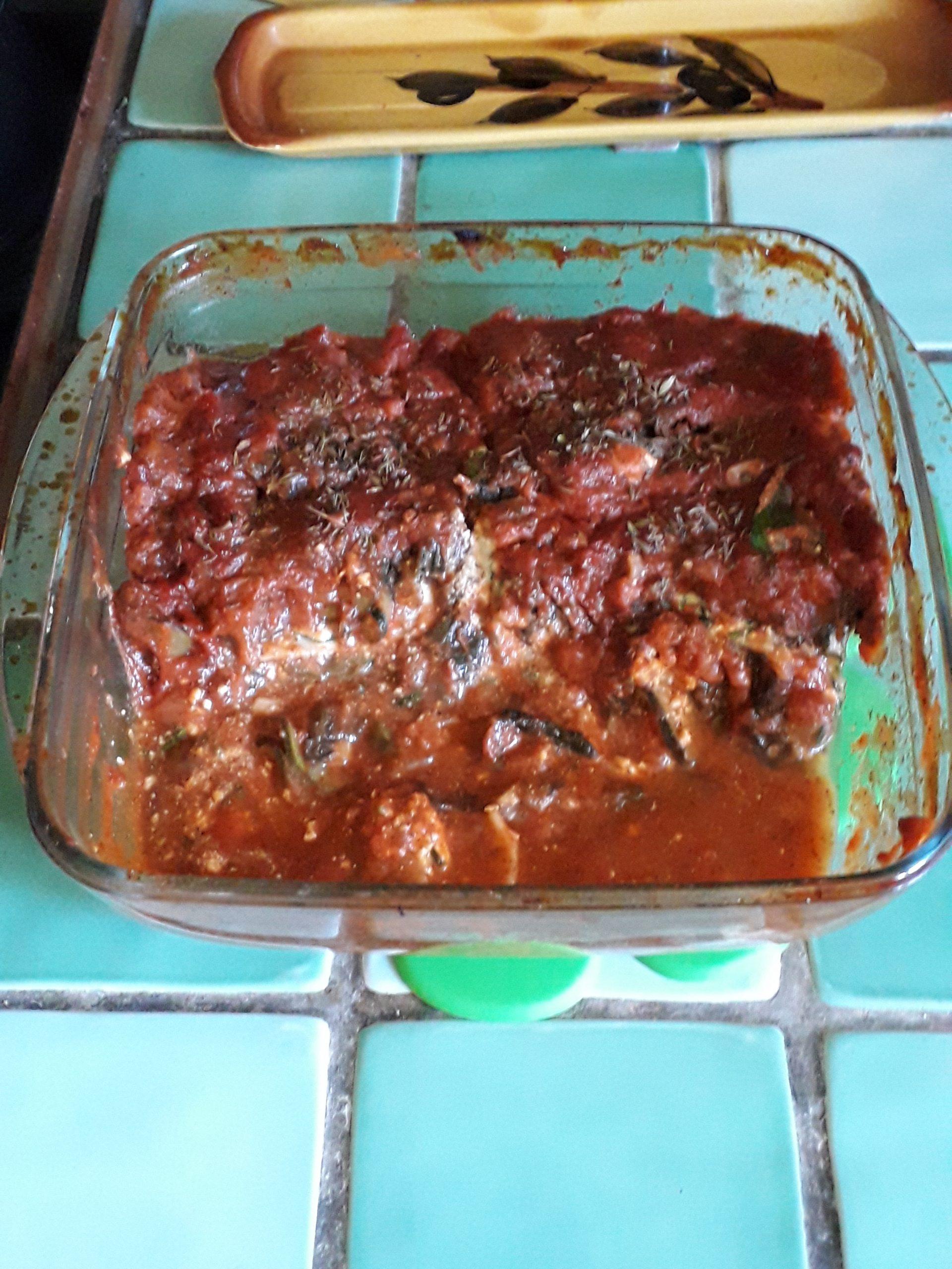 Lasagnes à la brousse de chèvre, aux courgettes et orties